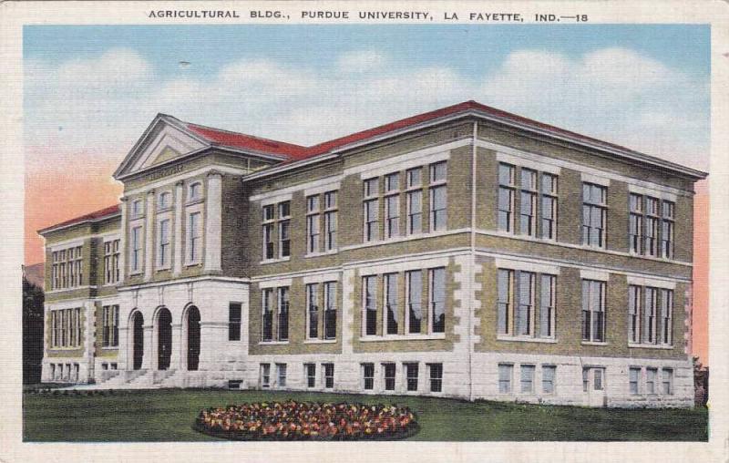 Exterior, Agricultural Bldg., Purdue University, Lafayette, Indiana, 30-40s