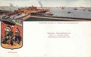 LPS20 Fortress Monroe Virginia Hotel Chamberlin Postcard Views Hampton Road