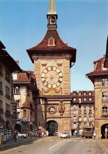 Switzerland Bern Zeitglockenturm, Clock Tower Street Cars Voitures