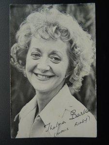 Coronation Street Actress THELMA BARLOW Mavis Riley c1970/80's signed Photocard