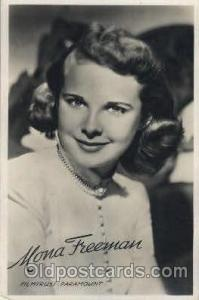 Mara Freeman Actor, Actress, Movie Star, Postcard Post Card Actor Actress, Mo...