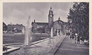 Reisinger- Brunnen- Anlage Mit Hauptbahnhof, Wiesbaden (Hesse), Germany, 1900...
