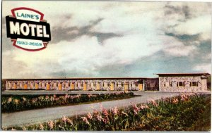 Laine's Franco-American Motel Ste Anne-De-Beaupré Vintage Postcard B20