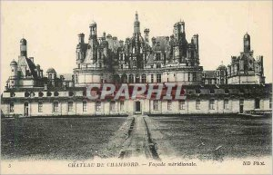 Old Postcard Chateau de Chambord Facade Meridionale