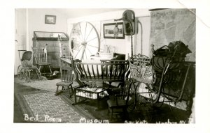 NY - Sackets Harbor. Museum, Bedroom. RPPC
