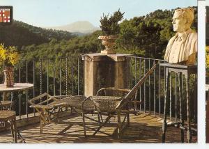 Postal 045899 : Galeria donde descansaba el poeta al fondo Montserrat. Museo ...