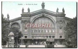 Old Postcard Paris's Gare du Nord