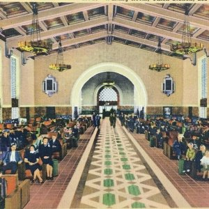 Los Angeles California Union Station Train Railway Depot Vintage Unposted