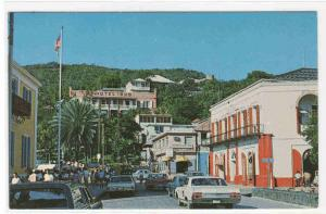 Post Office Square Cars Charlotte Amalie St Thomas US Virgin Islands postcard