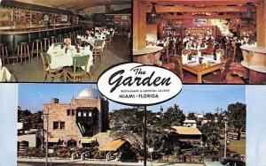 Miami Florida~The Garden Restaurant and Cocktail Lounge~1950s Capitol Dome
