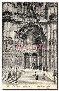 Old Postcard Beauvais Cathedral South Portal