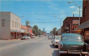 G44/ Crossville Tennessee Postcard Chrome Main Street Autos Stores
