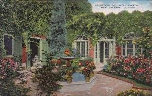 Louisiana New Orleans Courtyard Of Little Theatre 1951