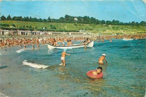 Romania Postcard family vacantion leisure time beach seaside view boat