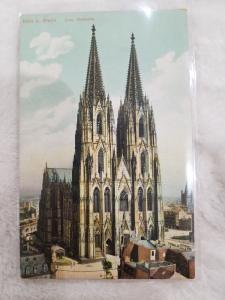 Antique Postcard, Koln a Rhein Dom Westseite