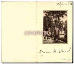 Old Postcard Fancy L & # 39allee of frenes