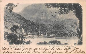 George Sound, New Zealand, Valentine's Postcard, Used in 1905, Sent to N.Y.C.