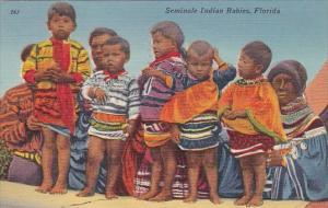 Seminole Indian Babies Everglades Of Florida 1957