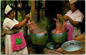 VIRGIN ISLANDS Postcard Cooking Lobsters West Indian Style over Coal Pots