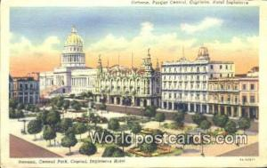 Havana Republic of Cuba Central Park, Capitol  Central Park, Capitol