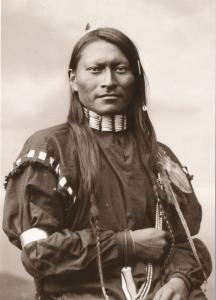 Red Sleeve aka Red Armed Panther Cheyenne Indian Fort Keogh Montana Recent Print