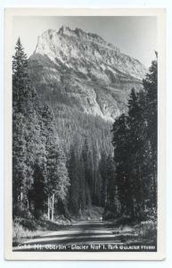 RPPC, Mt. Oberlin, Glacier National Park, Montana, MT, EKC Real Photo