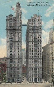 NEW YORK CITY, NY, 1915; Trinity and U.S. Realty Buildings
