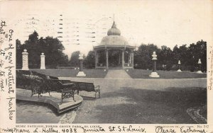 Music Pavilion, Tower Grove Park, St. Louis, MO, Early Postcard, Used in 1905