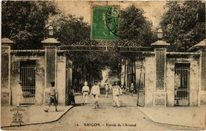 CPA AK VIETNAM - Saigon - Entrée de l'Arsenal (94961)