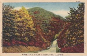 Illinois Greetings From Mascoutah 1954 Curteich