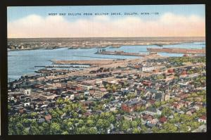 Duluth, Minnesota/MN Postcard, West End From Hilltop Drive