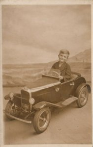 RP: Boy in a Pedal Car , SKEGNESS , UK , 00-10s