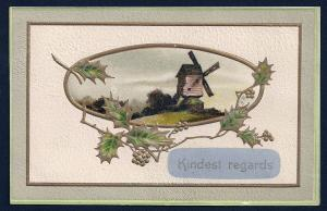 Kindest Regards Windmill used c1909