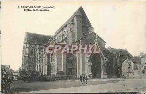 Postcard Old Saint Nazaire Loire Inf Eglise Saint Nazaire
