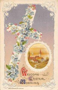 G79/ John Winsch Artist Signed Postcard c1910 Easter Cross Church 20