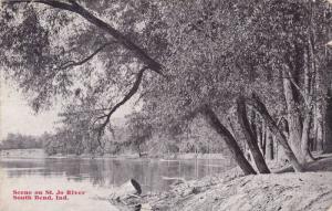 Scene on St. Jo River, South Bend, Indiana, PU-1910