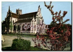 Modern Postcard Bourg en Bresse Ain Church of Brou