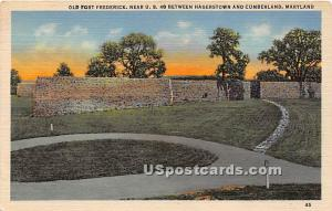Old Fort Frederick Hagerstown MD Unused