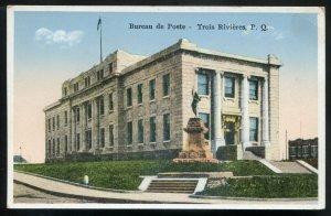 dc1540 - TROIS RIVIERES Quebec Postcard 1920s Post Office