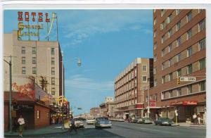 1st Avenue Street Scene Cars Billings Montana 1960s postcard