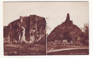 P701 tucks postcard ceylon the great stone statue