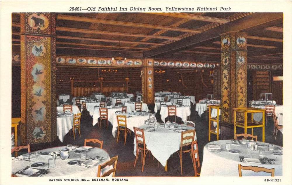 Old Faithful Inn Dining Room Menu
