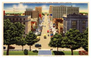 North Carolina Raliegh , Fayetteville Street from State Capitol