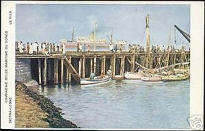 sierra leone, The Pier (1920s) Co. Belg. Maritime Congo