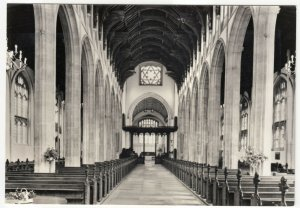 Suffolk; St Mary's Church Interior, Bury St Edmunds RP PPC, Unused, c 1950's