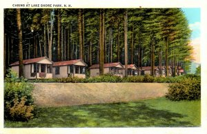 Gilford, New Hampshire - The Cabins at Lake Shore Park - in 1945