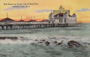 ATLANTIC CITY, New Jersey, 1900-1910s; Ball Room On Ocean End Of Steel Pier