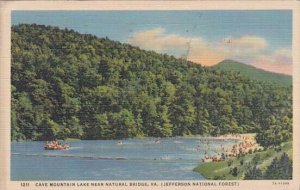 Cave Mountain Lake Near Natural Bridge Virginia 1944