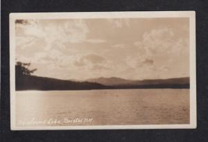NH View Newfound Lake BRISTOL NEW HAMPSHIRE Real Photo RPPC Postcard