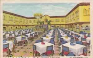 Interior View Tramor Cafeteria St Petersburg Florida Curteich